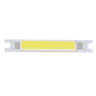Zdm 1 adet diy 5 w 48 x 7.5mm 450-500 lm soğuk beyaz / 6000-6500 k ışık cob led verici kalınlaşmış alüminyum substrat (dc9-11v)