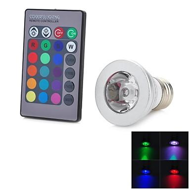 E26/E27 LED Spot Işıkları 1 LED'ler COB Uzaktan Kumandalı 100-200 AC 100-240V