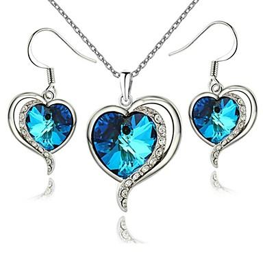 Mücevher-Kolyeler / Kolczyki(Kristal / Altın Kaplama)Düğün / Parti / Günlük Düğün Hediyeleri