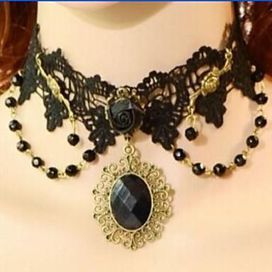 Siyah Yaka Dantel Düğün / Parti / Günlük Mücevher