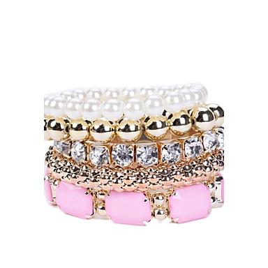 Pentru femei Diamante Artificiale Seturi de bijuterii Bratari Strand - Lux Alb / Roz Brățări Pentru Petrecere Zilnic Casual