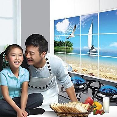 Doudouwo ® Peisaj Seabeach Anti-Oil Wall Stickers