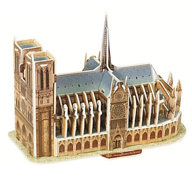 Пазлы 3D пазлы Строительные блоки DIY игрушки известные здания Бумага Бежевый / серый Модели и конструкторы