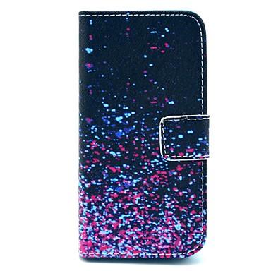 Coque Pour iPhone 5 Apple Coque iPhone 5 Porte Carte Portefeuille Avec Support Clapet Motif Coque Intégrale Dégradé de Couleur Dur faux