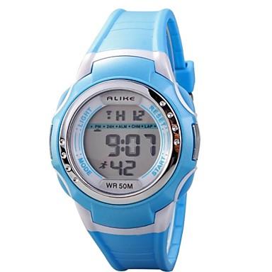 Çocuklar için Dijital saat Moda Saat Spor Saat Quartz Dijital Su Resisdansı LCD PU Bant İhtişam Siyah Mavi Pembe Mor Sarı
