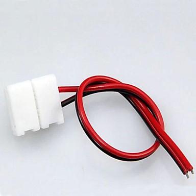 10mm 2pin ücretsiz kaynak konnektörü 5050/5630/5730 led şerit için kullanın (10 adet / grup)