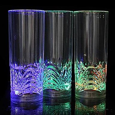 1pc Gece aydınlatması LED LED Bardaklar Batarya Su Geçirmez