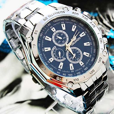 Men's Quartz Wrist Watch Casual Watch Alloy Band Charm Silver