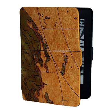 fundal maro harta lumii model PU cazul piele pentru Kindle paperwhite