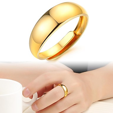 Pentru femei Placat Auriu Band Ring - Modă Inel Pentru Nuntă / Petrecere / Zilnic