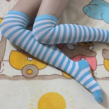 Çoraplar Sweet Lolita Sailor Lolita Lolita Lolita Lolita Aksesuarları Uzun Çorap Çizgili İçin Naylon