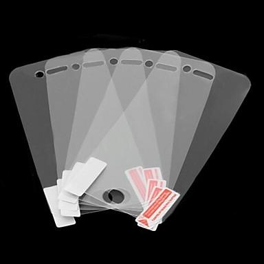 아이폰 4/4S를위한 청소 피복을 가진 5 조각 높은 투명한 스크린 보호자