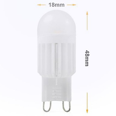 240 lm G9 LED Bi-pin Işıklar Gömme Uyumlu 2 led SMD 5050 Dekorotif Serin Beyaz AC 220-240V