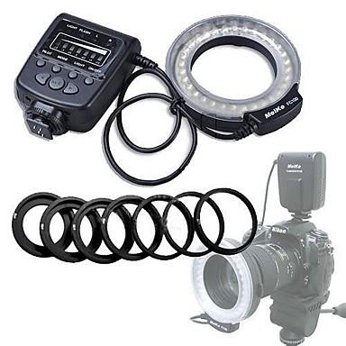 Meike 600D 550D 500D D5100 D3100 D3000 D80 40D D700 K-R D90 450D 7D 50D D7000 K-X E-5 E-3 Universel D-SLR D70 Flash Annulaire Griffe