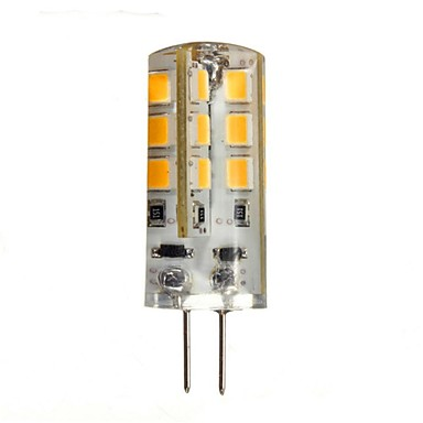 1.5W 130-150 lm G4 LED Bi-pin Işıklar 24 led SMD 2835 Sıcak Beyaz DC 12V