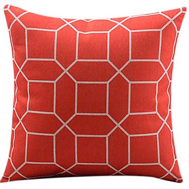 1 adet Pamuk/Keten Yastık Kılıfı, Geometrik Modern/Çağdaş