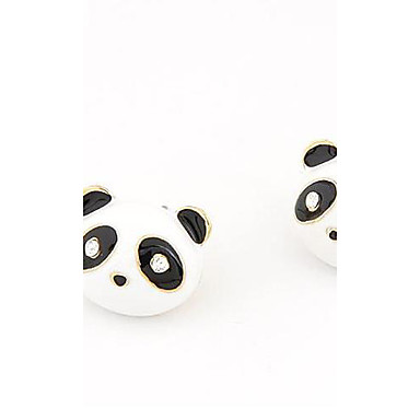 Küpe - Panda, Hayvan Kişiselleştirilmiş, Klasik, Moda Uyumluluk Parti