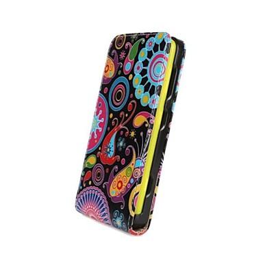 rengarenk çiçekler desen açmak ve Nokia Lumia 625 için pu deri aşağı tam vücut dava