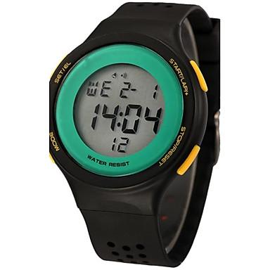 זול שעוני גברים-בגדי ריקוד נשים שעון דיגיטלי קווארץ דיגיטלי דמוי עור מרופד שחור / כחול / אדום 50 m שעוני ספורט דיגיטלי קסם יום יומי - אדום כחול שחור / ירוק שנתיים חיי סוללה / Maxell CR2025
