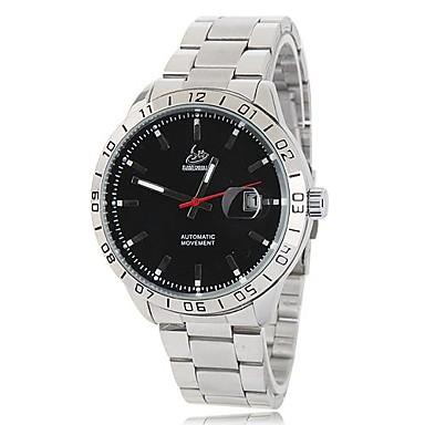 SHENHUA Bărbați Ceas Elegant ceas mecanic Mecanism automat Calendar Oțel inoxidabil Bandă Argint
