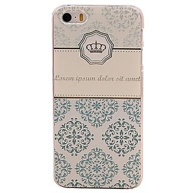 tok Για Θήκη iPhone 5 Ανάγλυφη Πίσω Κάλυμμα Γεωμετρικά σχήματα Σκληρή PC για iPhone SE/5s iPhone 5