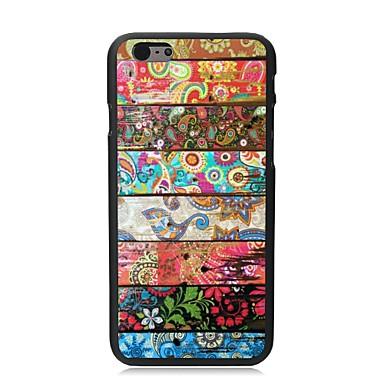 iphone 6 için yapraklar ve çiçekler plastik sert arka kapağı elonbo