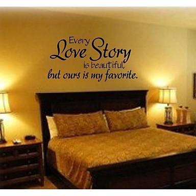 Cuvinte & Citate Romantic Modă Perete Postituri Autocolante perete plane Autocolante de Perete Decorative Material Lavabil Detașabil