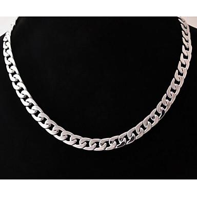 Per uomo Geometrica Collane a catena - Acciaio inossidabile, Acciaio al titanio Originale, Di tendenza Argento Collana Gioielli Per Matrimonio, Feste, Regalo