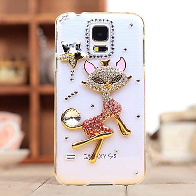 tok Για Samsung Galaxy Samsung Galaxy Θήκη Στρας Διαφανής Πίσω Κάλυμμα Γάτα PC για S7 edge S7 S6 edge plus S6 edge S6 S5 Mini S5 S3