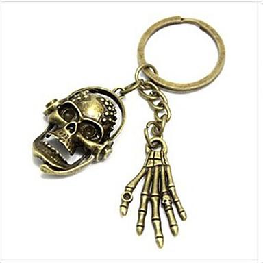 European Skull and Hand Bronze Alloy  Keychain(1 Pc)