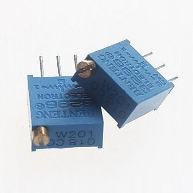 3296 potențiometru 200ohm rezistențe reglabile - albastru (10 buc)