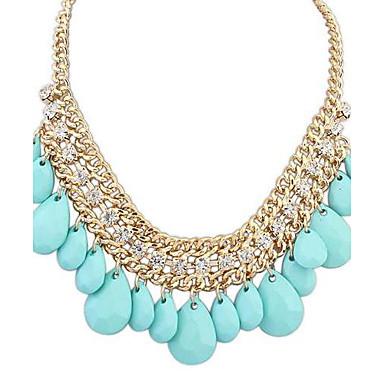 Helder Ketting - Gesimuleerde diamant Drop Sierlijk, Luxe, Europees Zwart, Oranje, Blauw Kettingen Sieraden Voor Feest