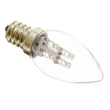1W 15-20 lm E12 LED 캔들 조명 C35 3 LED가 장식 따뜻한 화이트 차가운 화이트 AC 220-240V