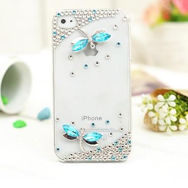 lüks elmas iphone 4 / 4s için kapak davayı geri yusufçuk
