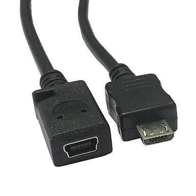 micro USB de sex masculin la feminin mini convertor adaptor USB 0.1m cablu 0.33ft
