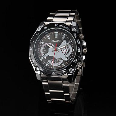 Мужской Армейские часы Наручные часы Кварцевый сплав Группа Серебристый металл