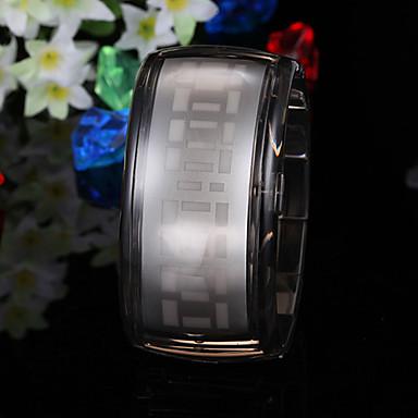 Futuristische Armbanduhr mit Blauer LED Anzeige - Schwarz