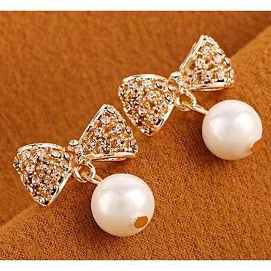 Σκουλαρίκι Κρεμαστά Σκουλαρίκια Κοσμήματα Γάμου / Πάρτι / Καθημερινά / Causal / Αθλητικά Μαργαριτάρι / Κράμα / Ζιρκονίτης / Επιχρυσωμένο