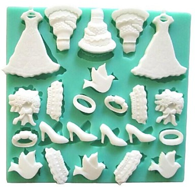 Εργαλεία ψησίματος Σιλικόνη Φιλικό προς το περιβάλλον / 3D / Φτιάξτο Μόνος Σου Κέικ / Μπισκότα / Σοκολατί ψήσιμο Mold 1pc