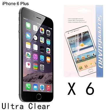 [6-pack] alta qualidade da tela anti-impressão digital protetor para 6s iphone plus / 6 mais