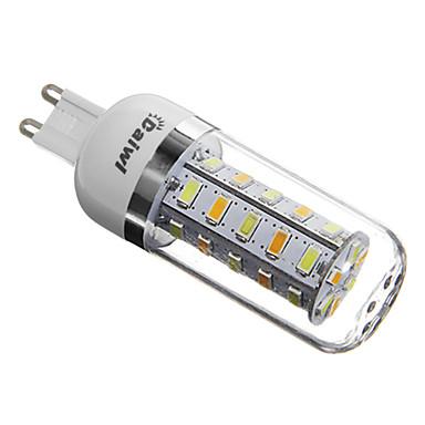 350lm G9 LED Mısır Işıklar T 36 LED Boncuklar SMD 5730 Doğal Beyaz 220-240V