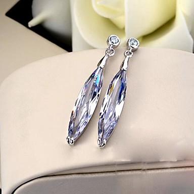 Dames Druppel oorbellen Kristal Roestvast staal Platina Verguld Sieraden Bruiloft Feest Dagelijks Causaal Kostuum juwelen