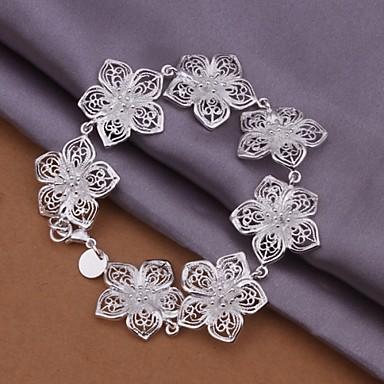 Dames Armbanden met ketting en sluiting Verzilverd Sieraden Voor Bruiloft Feest Dagelijks Causaal Sport 1 stuks