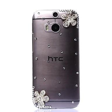 Pentru Carcasă HTC Carcase Huse Stras Transparent Carcasă Spate Maska Shine Glitter Greu PC pentru HTC