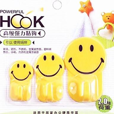 3 stuks multifunctioneel smile mooie familie haak (willekeurige kleur)