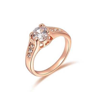 Dames Statement Ring Zilver Gouden Kristal Verguld Bruiloft Feest Verloving Dagelijks Causaal Kostuum juwelen