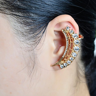Γυναικεία Χειροπέδες Ear Πολυτέλεια Στρας Προσομειωμένο διαμάντι Κράμα Κοσμήματα Γάμου Πάρτι Καθημερινά Causal Αθλητικά