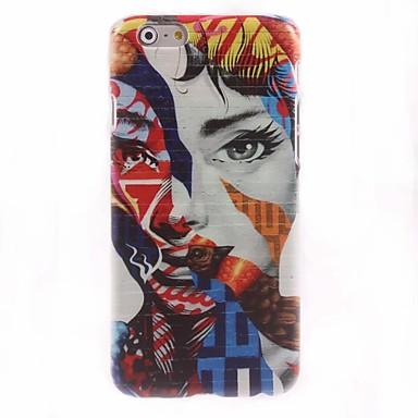 kleurrijke vrouw ontwerp hard case voor de iPhone 6 plus iPhone-hoesjes
