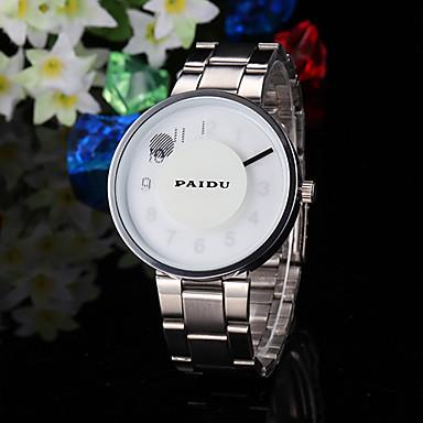 Herren Kleideruhr Einzigartige kreative Uhr Quartz Band Kreativ Silber