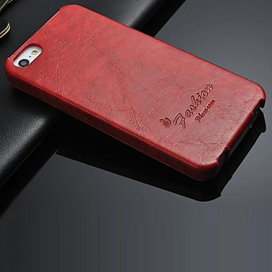 tok Για iPhone 5 Θήκη iPhone 5 Ανοιγόμενη Πλήρης Θήκη Μονόχρωμο Σκληρή PU δέρμα για iPhone SE / 5s iPhone 5
